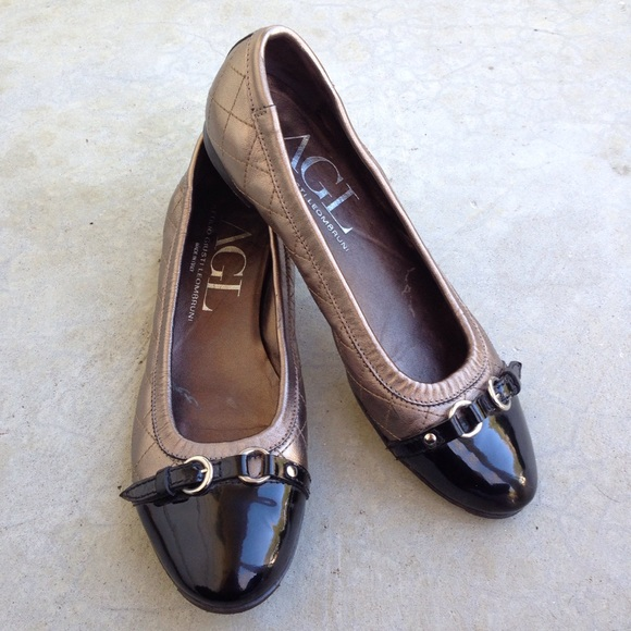2d4c5652e5918 Attilio Giusti Leombruni Shoes - AGL Cap Toe Ballet Flats Quilted Patent  Leather